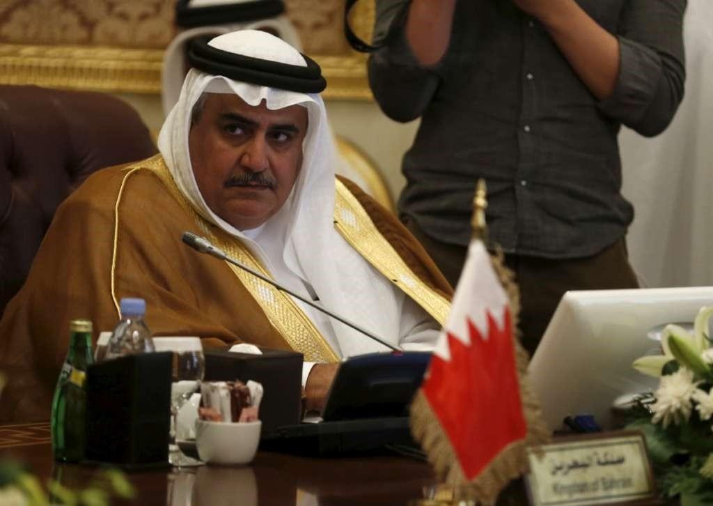 Bahraini Foreign Minister Sheikh Khalid bin Ahmed al-Khalifa. (REUTERS Photo)