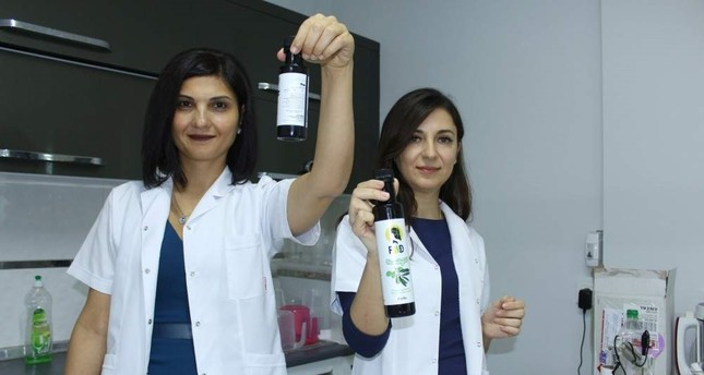 Two entrepreneurs in Ankara produced vitamin D-supported olive oil with funding from KOSGEB. AA Photo