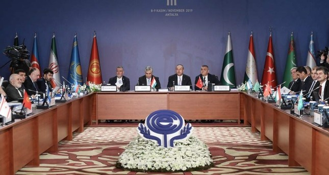 FM Çavuşoğlu chairs 24th Economic Cooperation Organization ECO Council of Ministers Meeting in Antalya on Nov. 9, 2019 AA Photo