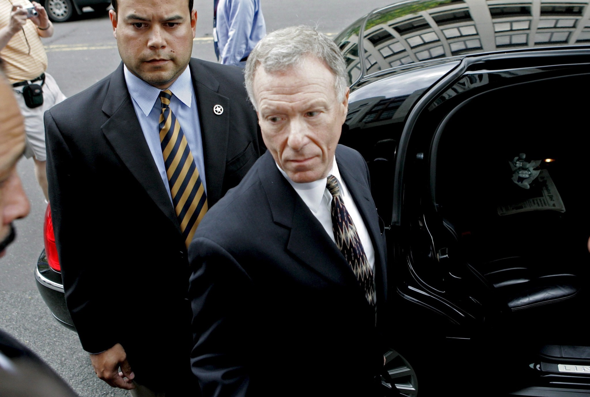 A file picture dated 05 June 2006 shows I. 'Scooter' Lewis Libby, former chief of staff to U.S. Vice President Dick Cheney, depart federal court in Washington, D.C., USA (reissued 13 April 2018).