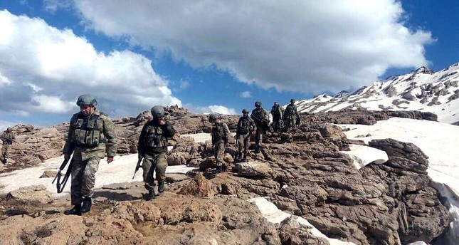 The Turkish military has been carrying out operations in Kato Mountain in southeastern Turkey's Şırnak, which used to be a safe haven for the PKK, May 27, 2017.
