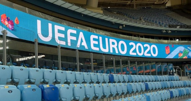 A photo of Gazprom Arena, one of the venues to host Euro 2020 matches, in St. Petersburg, Russia. AFP Photo