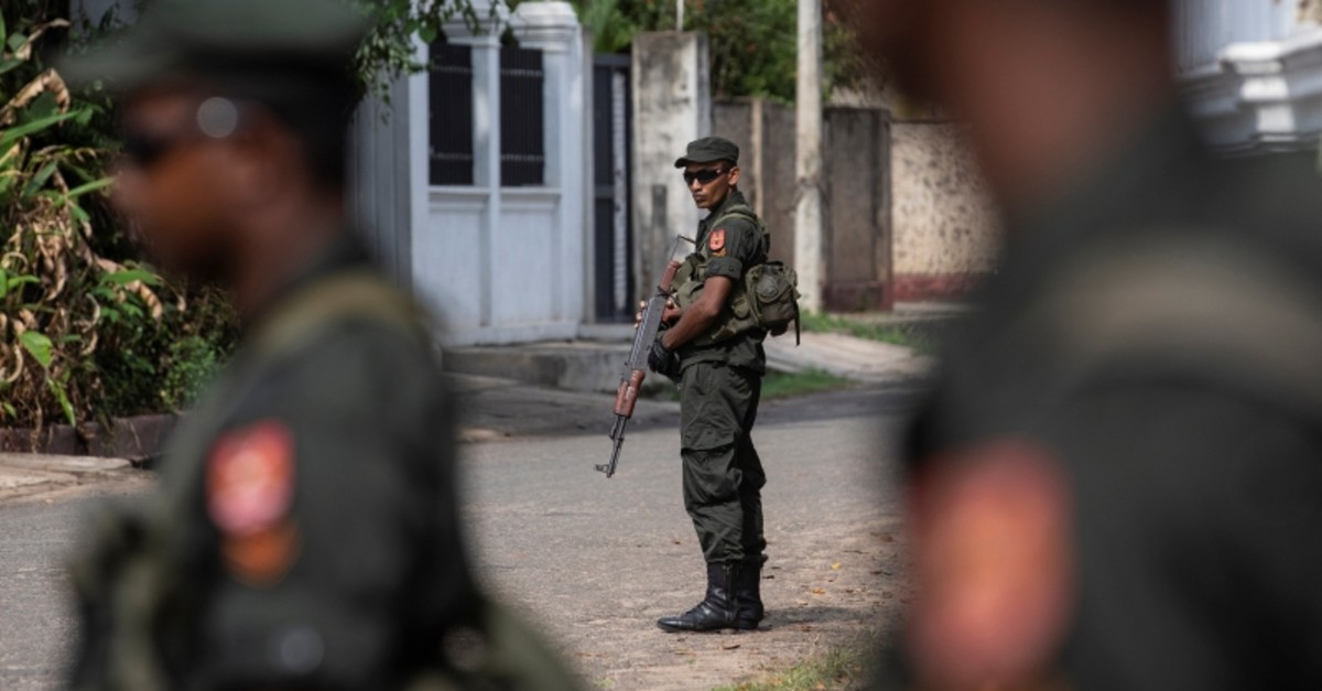 Soldiers stand guard outside St. Sebastian Church, days after a string of suicide bomb attacks across the island on Easter Sunday, in Negombo, Sri Lanka, May 1, 2019. (Reuters Photo)