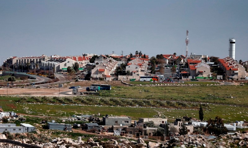 This file photo taken on January 30, 2015, showa a general view of the Israeli settlement of Adam, near the Palestinian city of Ramallah in the occupied West Bank. (AFP Photo)