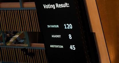 ГА ООН осудила действия Израиля в секторе Газа