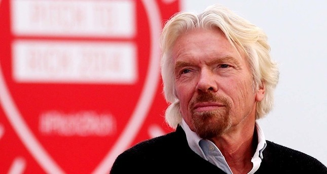 رجل الأعمال البريطاني، مؤسس مجموعة فيرجن، ريتشارد برانسون