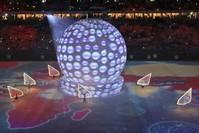 مراسم افتتاح ستاد الوقرة الذي سيستضيف مباريات من مونديال قطر 2022 (أسوشيتد برس)