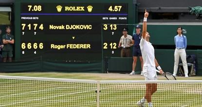 Djokovic wins Wimbledon in 5th set tiebreaker