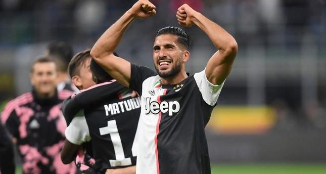 Emre Can celebrates after a Juventus match, Milan, Oct. 6, 2019. Reuters Photo