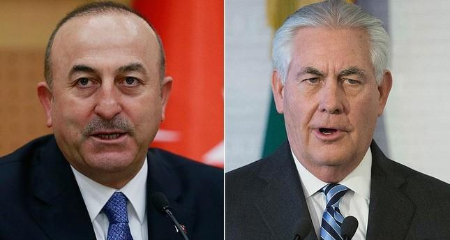 FM Çavuşoğlu, US counterpart Tillerson discuss Syria, Erdoğan's upcoming visit over phone