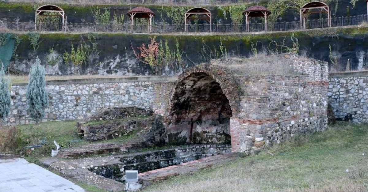 The restored Yazlu0131k Spa Thermal Facility includes a Roman bath. (AA Photo)