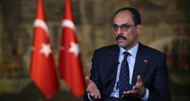 Presidential Spokesman Ibrahim Kalın speaks during an interview in Istanbul, Saturday, Oct. 19, 2019 (AP Photo)