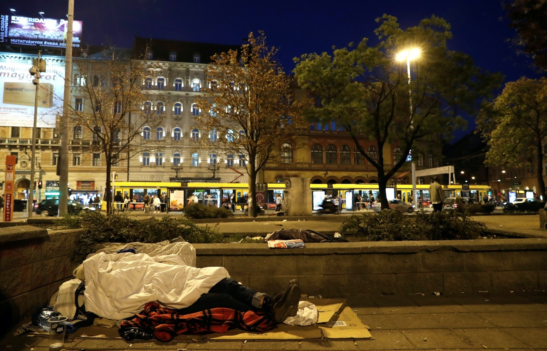 A homeless woman in Budapest, Hungary (Reuters Photo)