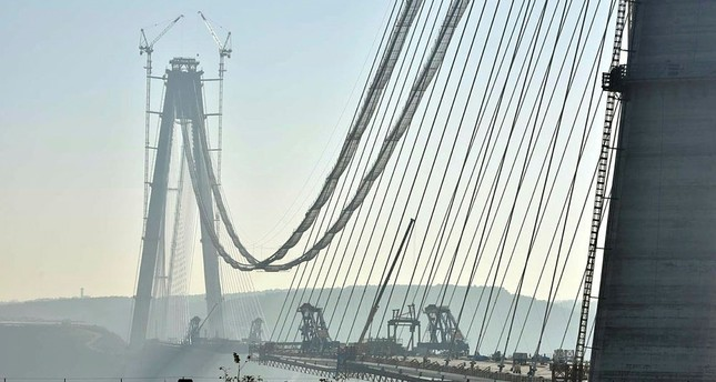 The Yavuz Sultan Selim Bridge in Istanbul, Turkey. (AA Photo)