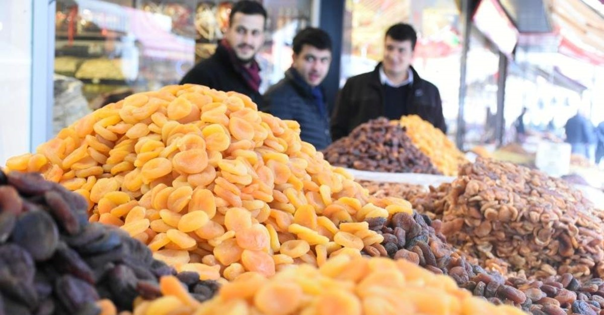 Dried apricot exports brought in around $253.5 million in revenue in 2019. (AA Photo)