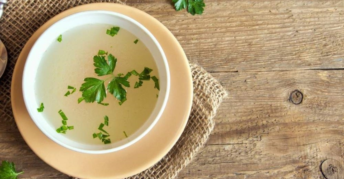 Bone broth soup is a good source of collagen. (File Photo)