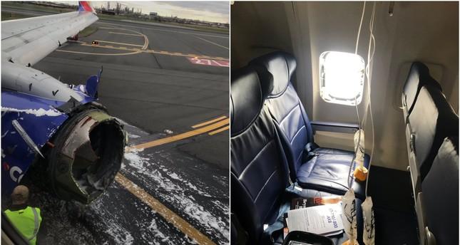 Twitter photos courtesy of Matt Tranchin from Southwest Airlines Flight 1380.
