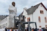 Huge Marx statue, a gift from China, erected at his German birthplace