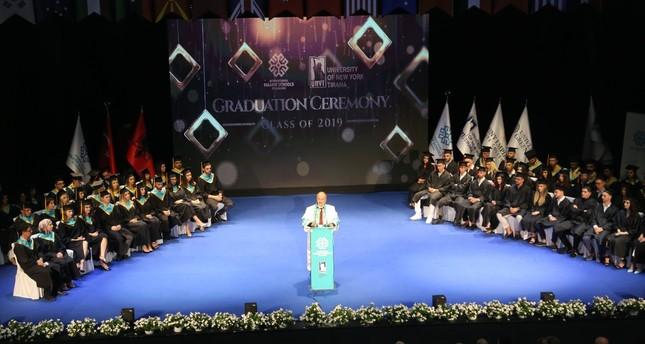 A graduation ceremony at a Maarif Foundation school in Albania.