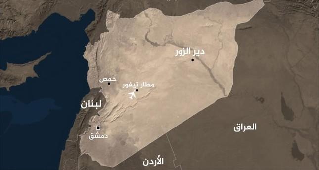 مطار التيفور العسكري السوري يتعرض لقصف جوي وقوات النظام تتصدى