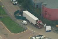 الشاحنة التي عثر فيها على جثث المهاجرين (AP)