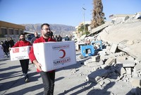 32 more Turkish aid trucks arrive in quake-hit northern Iraq