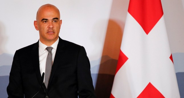 Swiss President Alain Berset addresses the Innovation and Industry Forum in Bern, Switzerland, July 3, 2018. (REUTERS Photo)