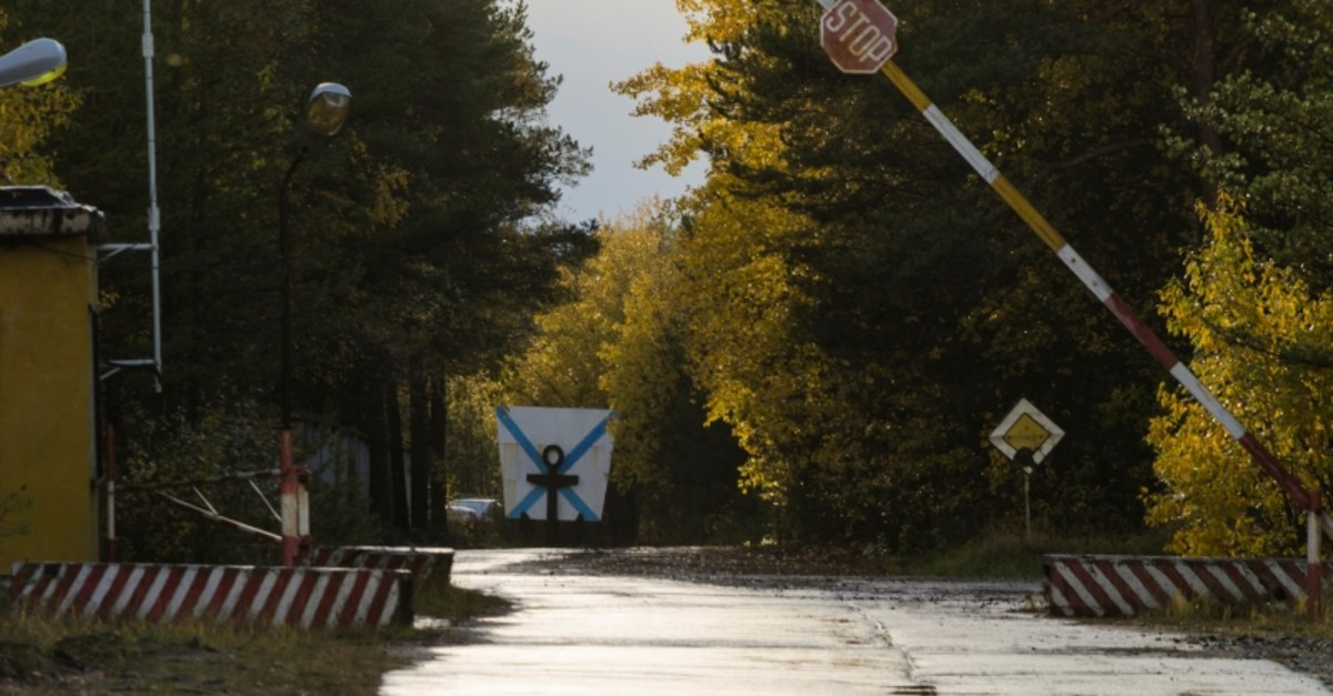 A view shows an entrance checkpoint of a military garrison located near the village of Nyonoksa in Arkhangelsk Region, Russia Oct. 7, 2018 (Reuters Photo)