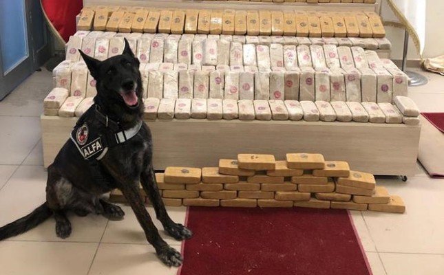 Police seized 152 kilograms of heroin in eastern Van province, July 25, 2019.
