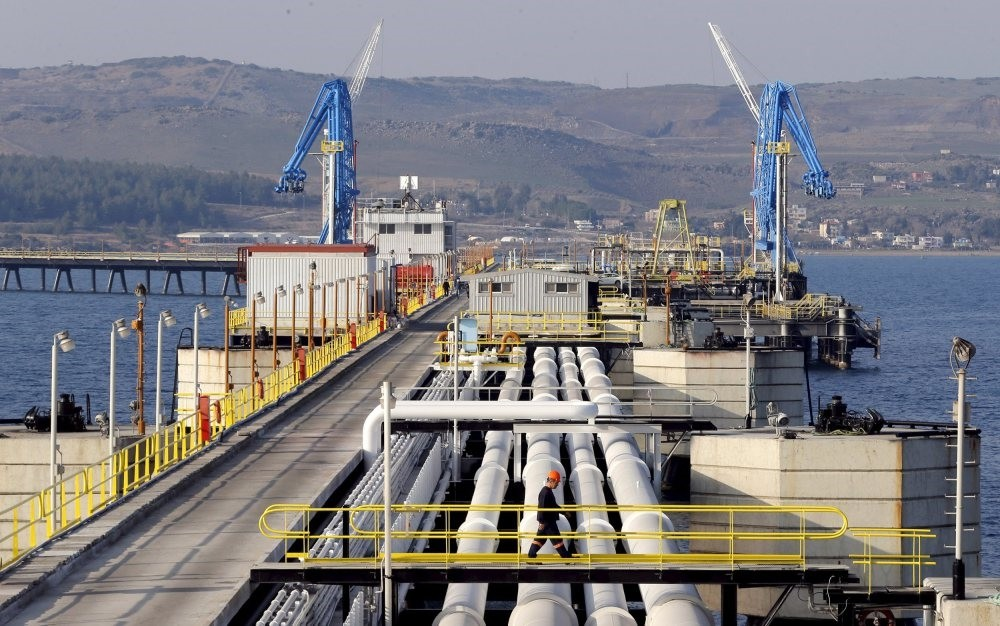 A general view of Turkey's Mediterranean port of Ceyhan, which is run by state-owned Petroleum Pipeline Corporation (BOTAS), some 70 kilometers from the southern province of Adana.