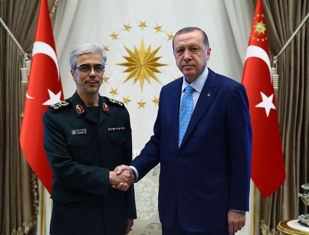 President Erdou011fan received Chief of Staff of Iranian Armed Forces Mohammad Bagheri at the Beu015ftepe Presidential Complex in Ankara on Wednesday.