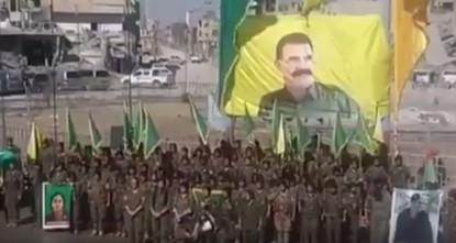 pMultiple U.S. official statements have underlined Washington's displeasure over banners and images featuring the U.S. designated terror group the PKK's founder Abdullah Öcalan in the Syrian city...
