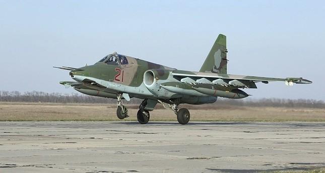 طائرة سوخوي 25 روسية بعد تنفيذها مهمة في سوريا (روسيا)
