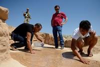 Reste der alten byzantinischen Kapelle ausgegraben