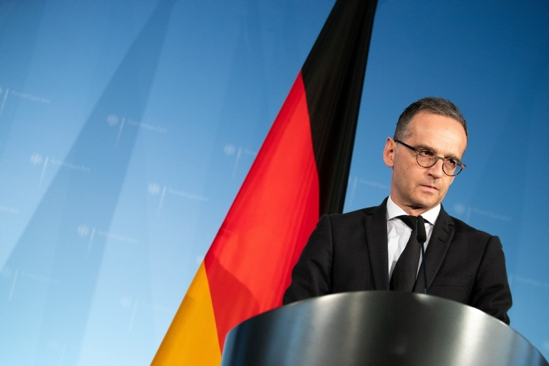 Minister of Foreign Affairs Heiko Maas speaks during a joint press conference with the Secretary General of the Council of Europe, Thorbjorn Jagland (unseen) in Berlin, November 6, 2018. (EPA Photo)