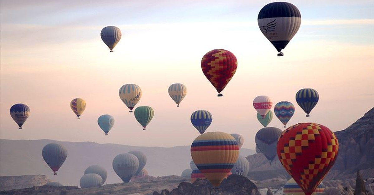 20 balloons from different countries will color the sky during the Cappadocia International Hot Air Balloon Festival.