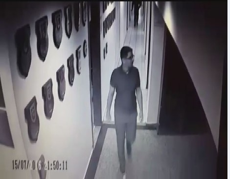 Batmaz was caught by CCTV cameras at the Akıncı Air Base, the decision center of the coup, on the night of July 15. (DHA Photo)