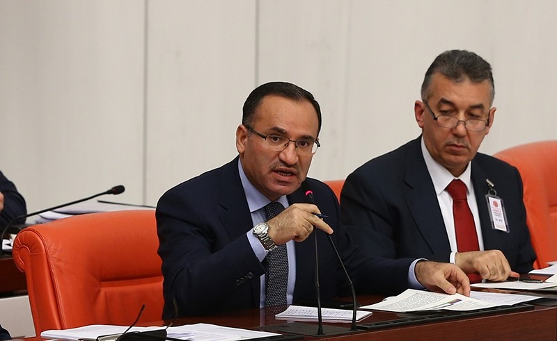 Deputy PM Bekir Bozdau011f (Left) speaks during a General Assembly Session at the Grand National Assembly of Turkey (TBMM) on Feb. 14, 2018 (AA Photo)