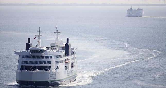 A picture made available on 07 June 2017 shows a Scandlines Ferry close to the port of Roedby, Denmark, 02 June 2014. (EPA File Photo)