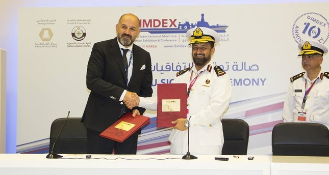 البحرية القطرية تتعاقد مع شركة تركية على تصنيع سفينتين عملاقتين