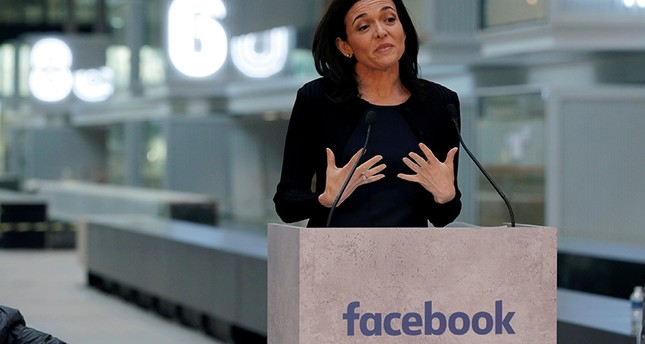 Sheryl Sandberg, Chief Operating Officer of Facebook, delivers a speech during a visit in Paris, France, on January 17, 2017. (Reuters Photo)