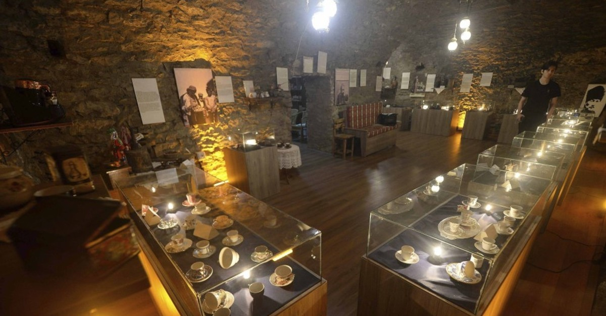 Photo shows the inside of the coffee museum that opened in Safranbolu, Karabu00fck.