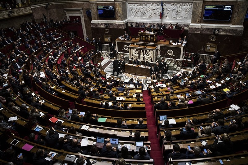A file picture dated 28 November 2017 shows French members of the Parliament questioning the government in Paris, France, prior to their vote to ratify the ordinances of the government regarding the labor law. (EPA Photo)