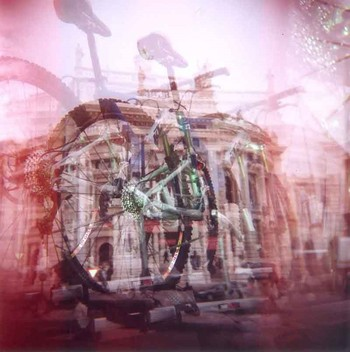 Photograph taken with the Holga using a filter.