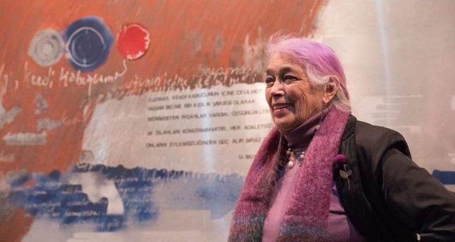 Discover retrospective exhibition by painter Tomur Atagök at İş Sanat