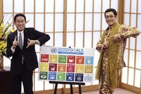 'Pen-Pineapple-Apple-Pen' singer and UN team up to promote sustainable development goals