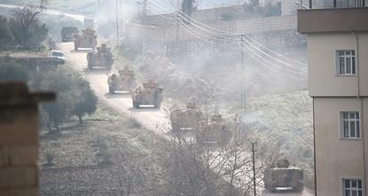 """pMit der Operation """"Olivenzweig ziele man auf eine 30 Kilometer breite Sicherheitszone in der nordsyrischen Provinz Afrin ab. Dies sei eines der Ziele der am Wochenende gestarteten Offensive..."""