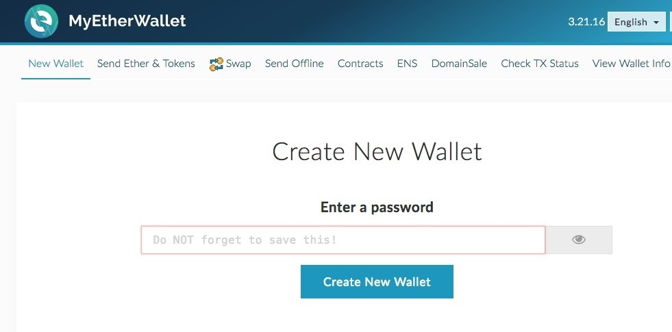 A screengrab from the wallet service