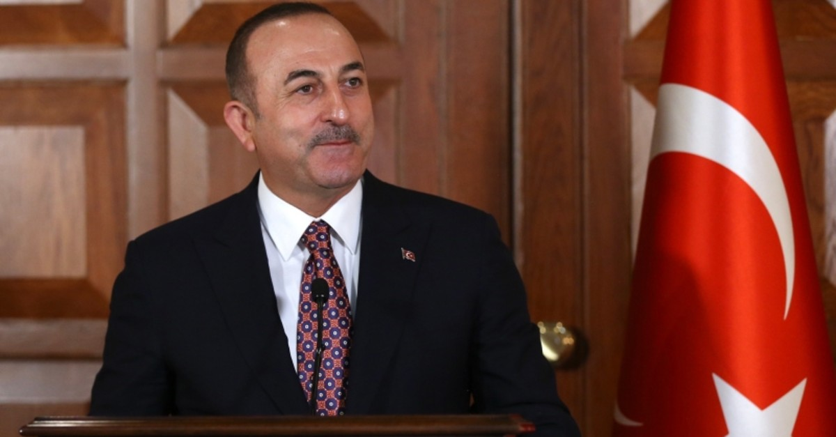 Foreign Minister Mevlu00fct u00c7avuu015fou011flu holds a joint press conference with his Paraguayan counterpart at Turkish Foreign Ministry in Ankara, on May 2, 2019. (AA Photo)
