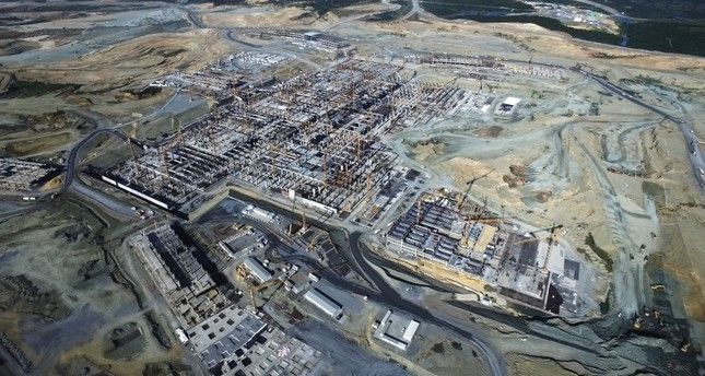 Istanbul's third airport construction site
